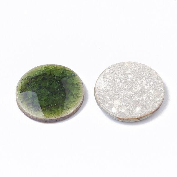 Sötét zöld porcelán korong (20mm)