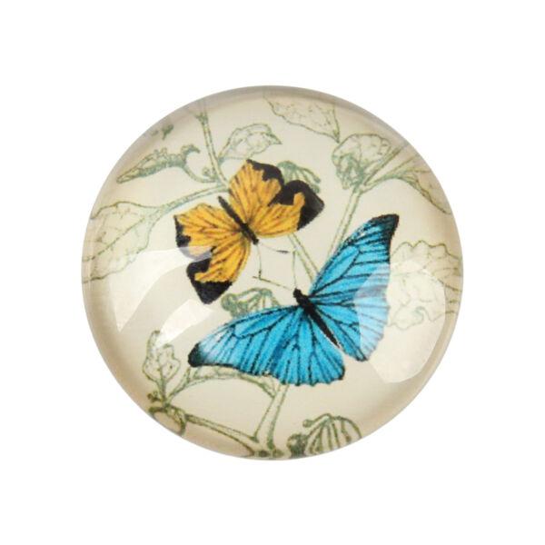 Pillangó mintás üveglencse (18mm)