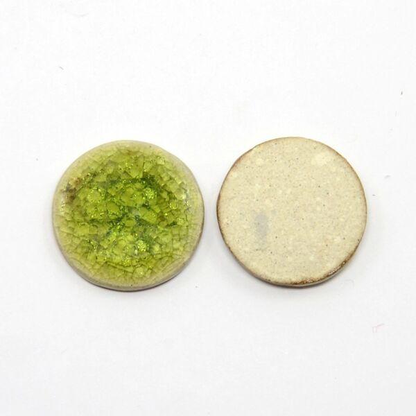 Olivazöld porcelán korong (20mm)