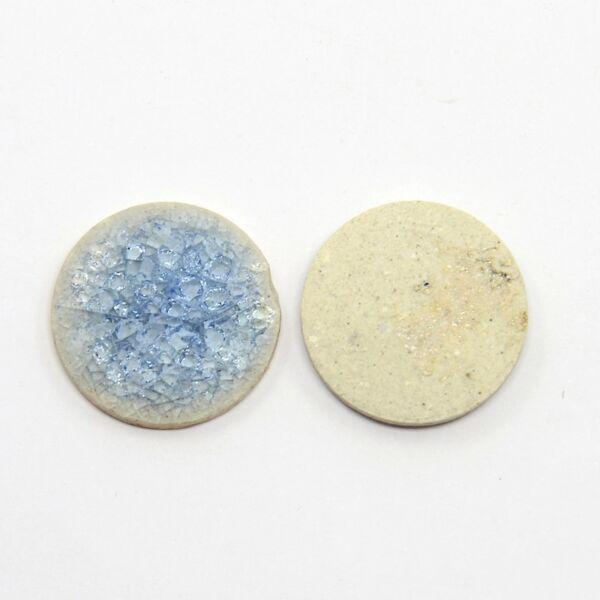 Világos kék porcelán korong