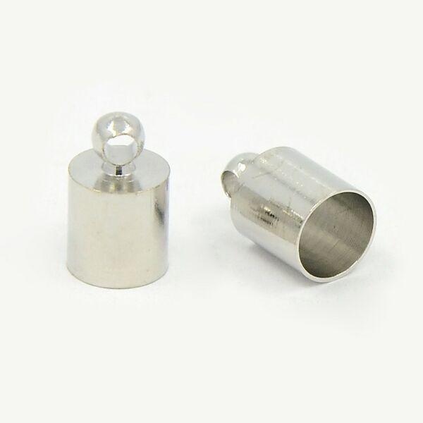 Antikolt ezüst színű végzáró (6x10mm)