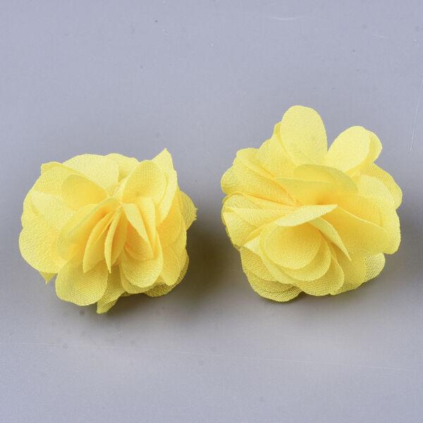 Sárga virág alakú pompon (34mm)