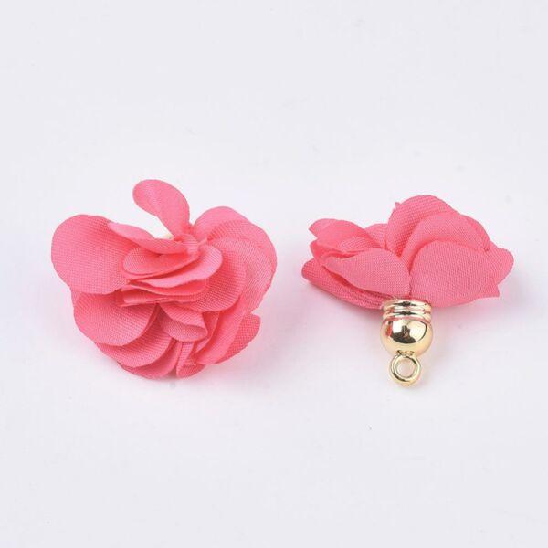 Pink virág alakú bojt (30x30mm)