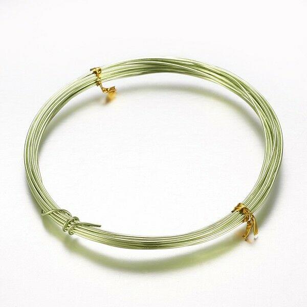 Világos zöld aluminium ékszerdrót (1mm/10m)