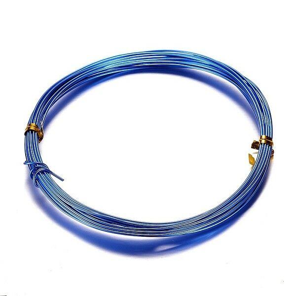 Sötét kék aluminium ékszerdrót (1mm/10m)