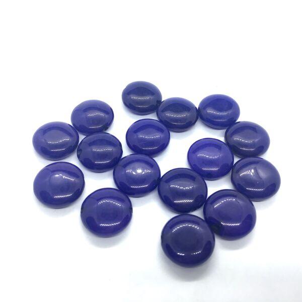 Sötét kék jade lapos ásvány medál (15mm)