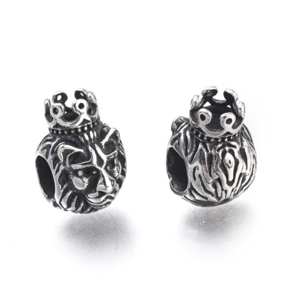316 nemesacél oroszlánfej alakú gyöngy