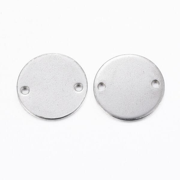 Nemesacél gravírozható kapcsolóelem (16mm)