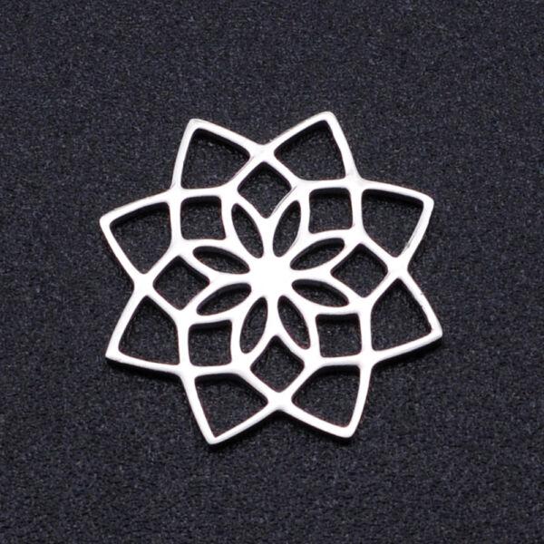 Nemesacél virág alakú kapcsolóelem kapcsolóelem (16mm)