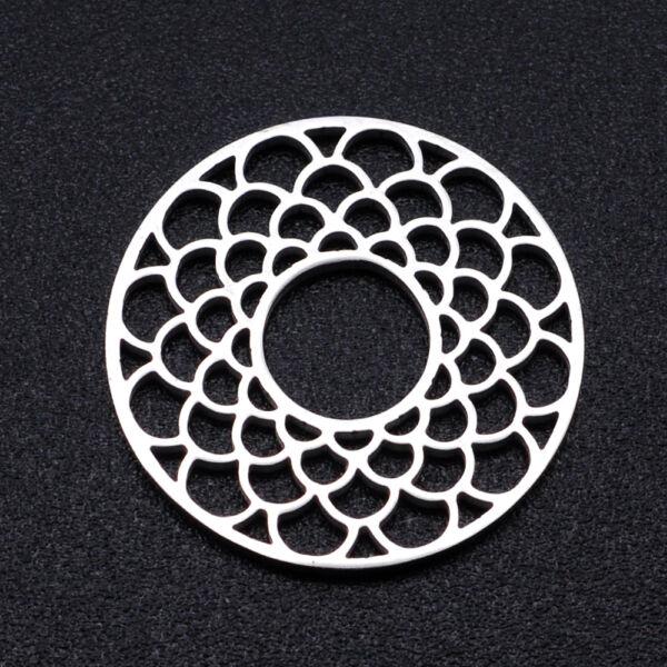 Nemesacél mandala alakú kapcsolóelem kapcsolóelem (17mm)