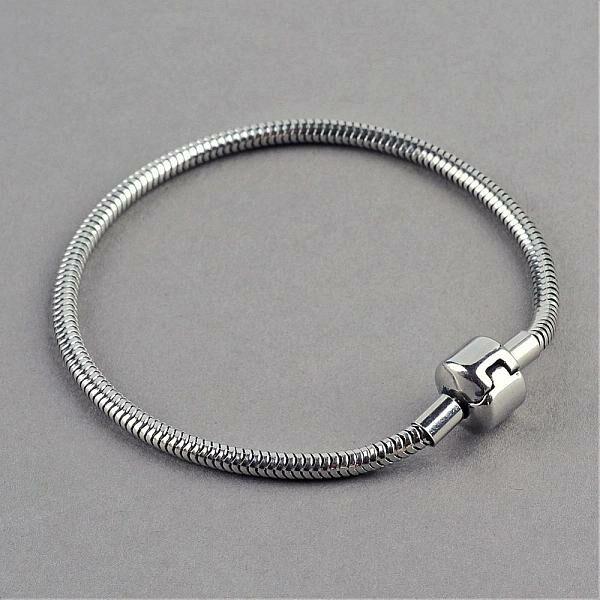 Nemesacél karkötő pandora gyöngyökhöz (18-20cm)