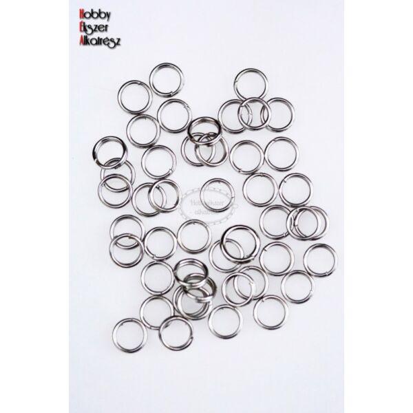 50db Antikolt ezüst színű dupla szerelőkarika (6mm)