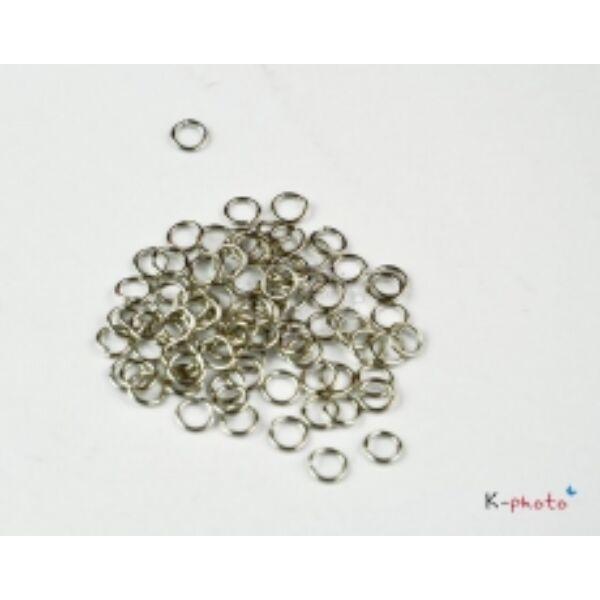 50db Antikolt ezüst szimpla szerelőkarika (6mm)