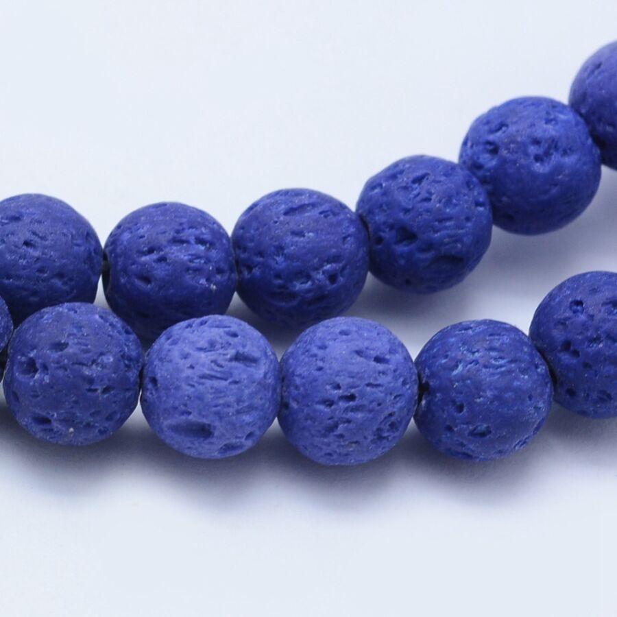 Kék lávakő ásványgyöngy (8mm)/10db