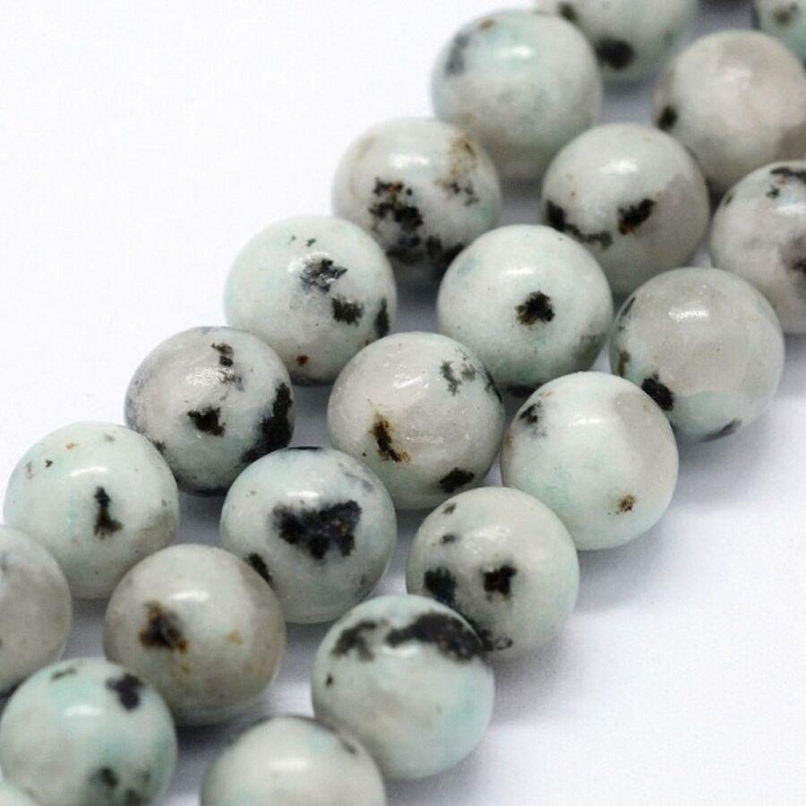 Szezám Jáspis/kivi jáspis ásványgyöngy (4mm)/10db