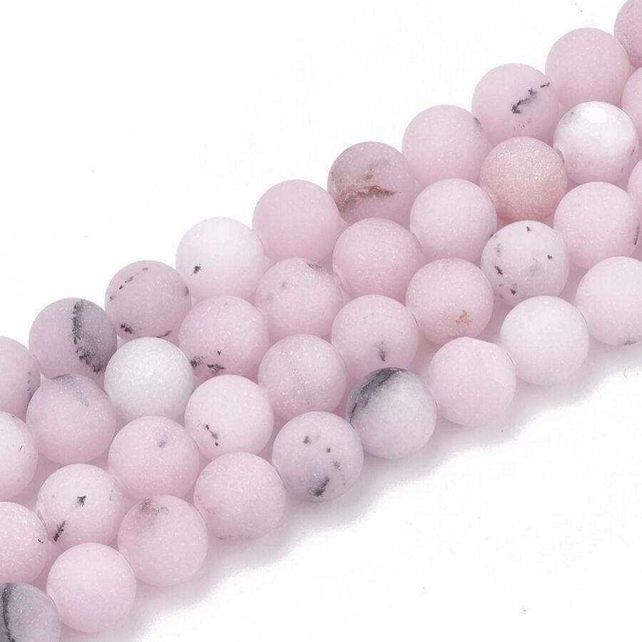Matt cseresznyevirág jáspis ásványgyöngy (8mm)/10db