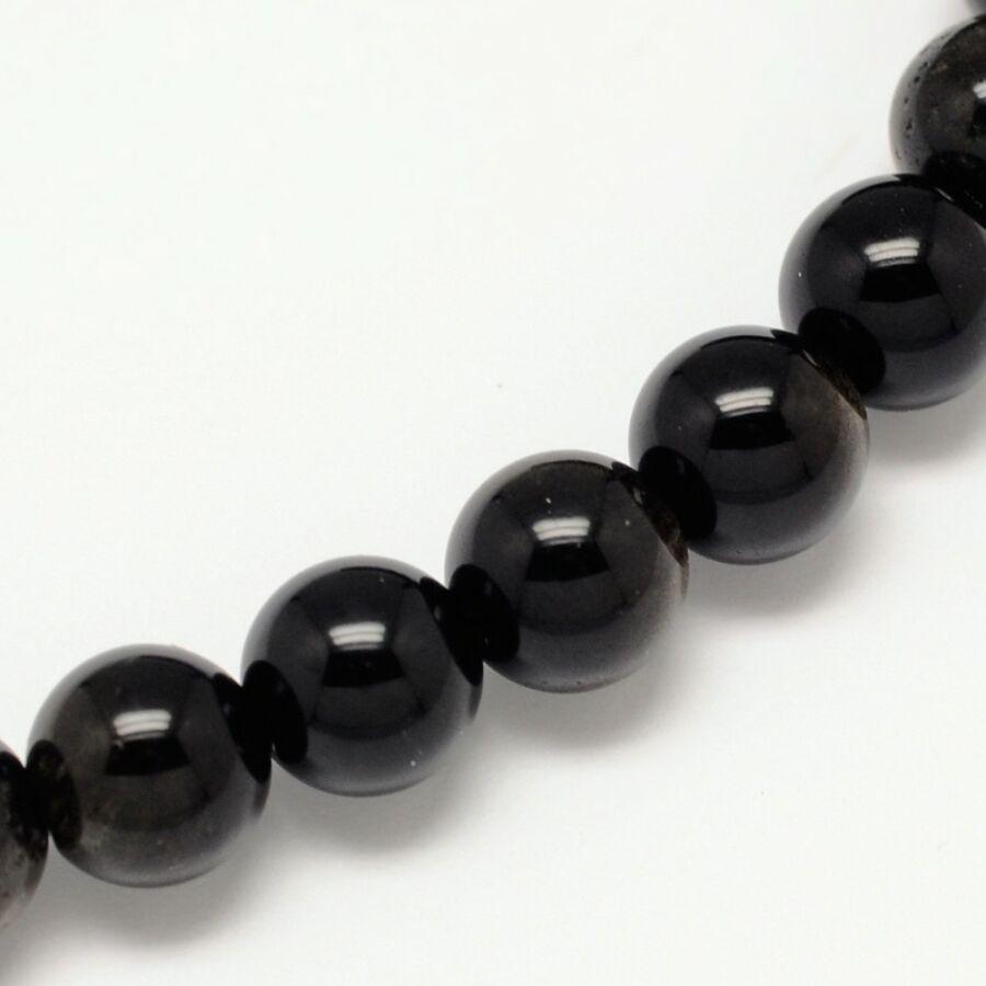 Obszidián  ásványgyöngy (8mm)/10db