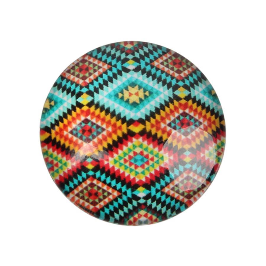 Geometriai mintás üveglencse (18mm)