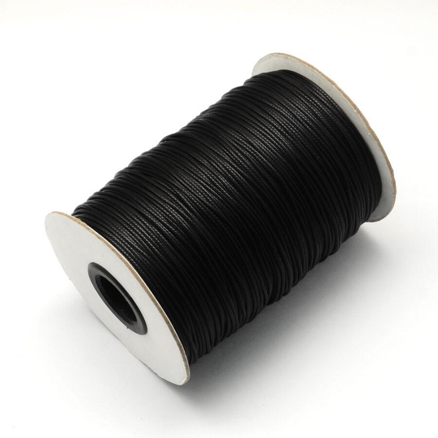 Fekete viaszolt szál (1mm)