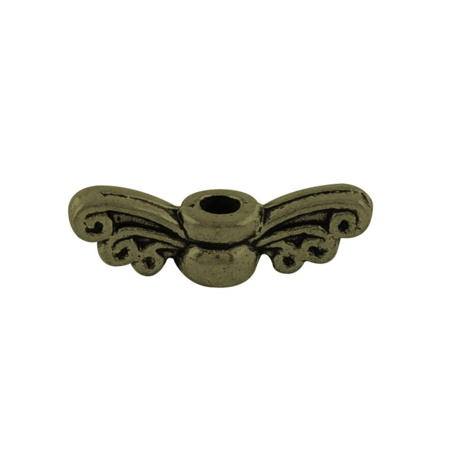 Antikolt bronz színű angyalszárny köztes (4x14mm)