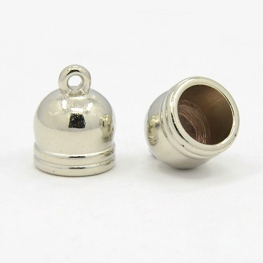 Antikolt ezüst színű végzáró (13x10mm) közepes