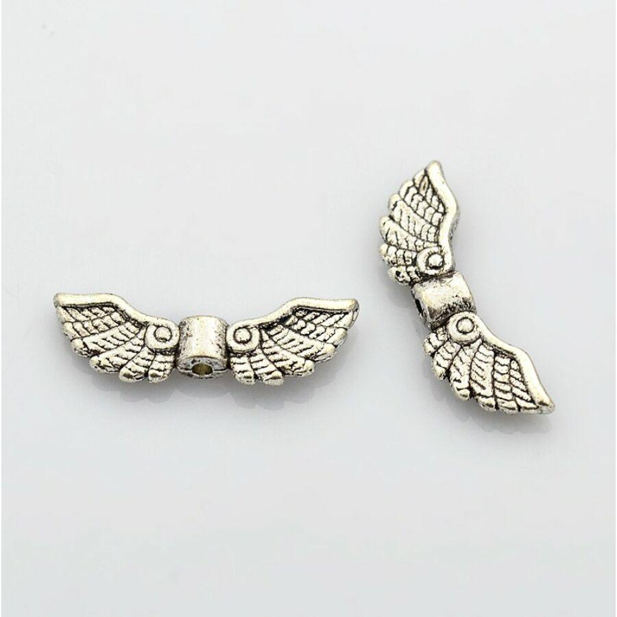 Antikolt ezüst színű angyalszárny köztes (7x22)