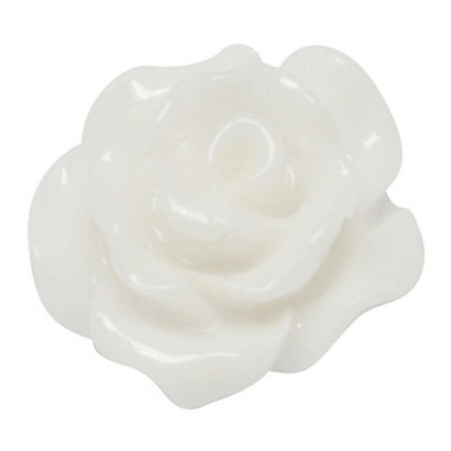 Fehér színű műgyanta virág (10mm)