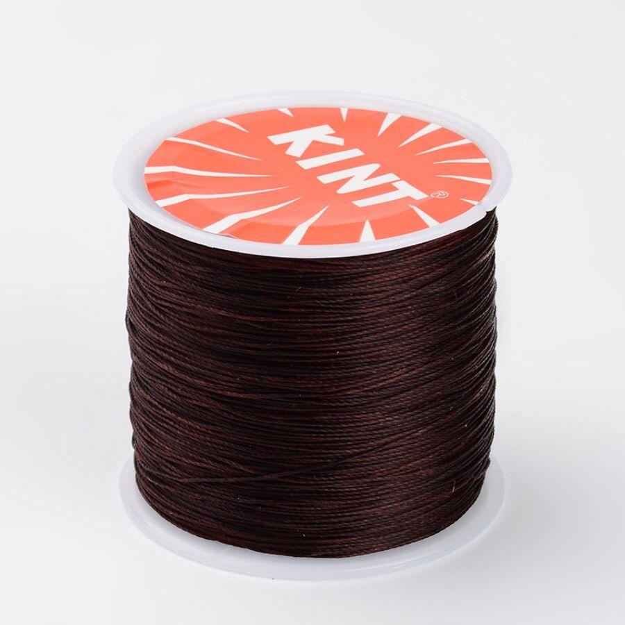Sötét barna színű viaszolt szál (0,5mm)