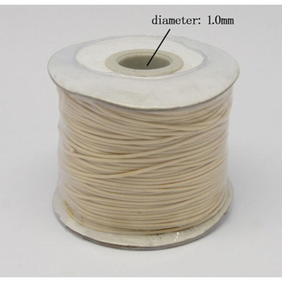 Vajszínű viaszolt szál (1mm)