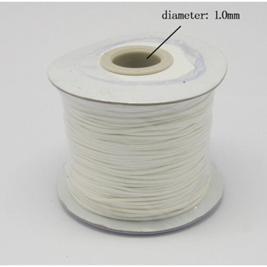 Fehér viaszolt szál (1mm)