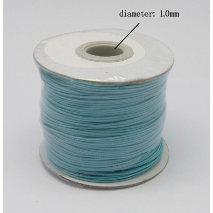 Égkék színű viaszolt szál (1mm)