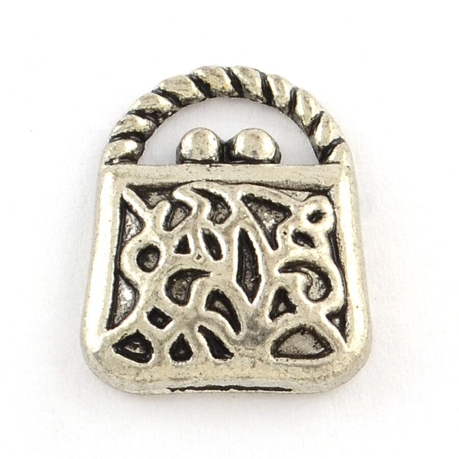 Antikolt ezüst táska fityegő