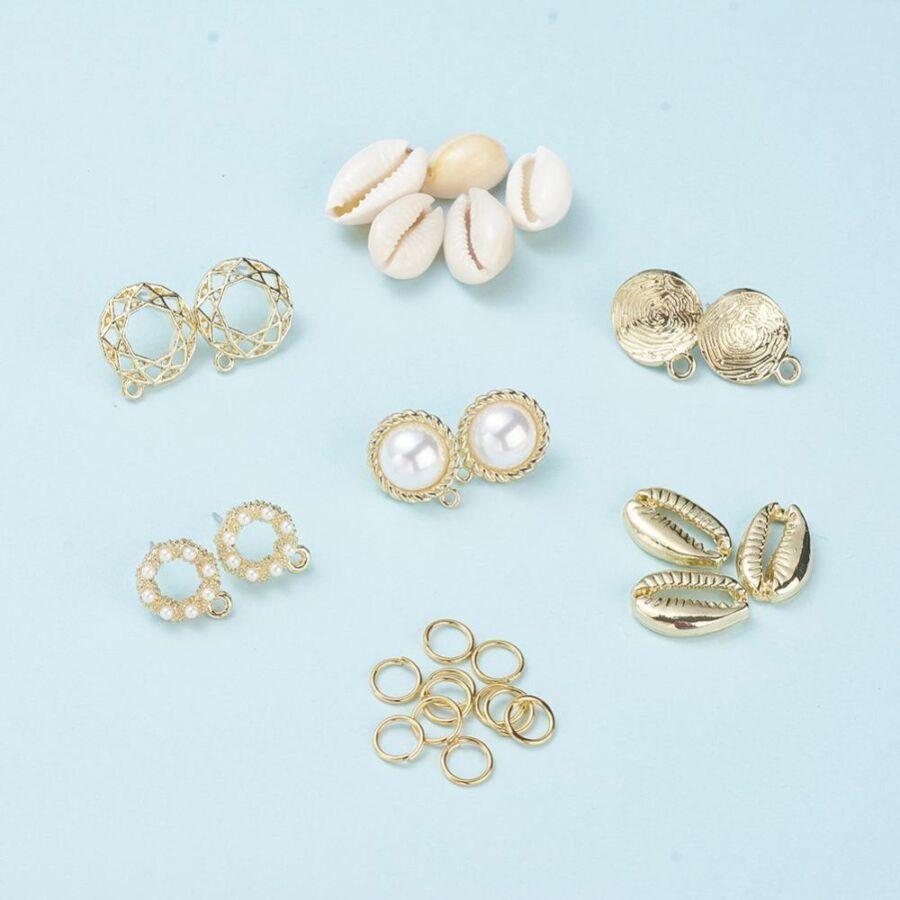 Arany nyári kagylós fülbevaló készítő alkotócsomag