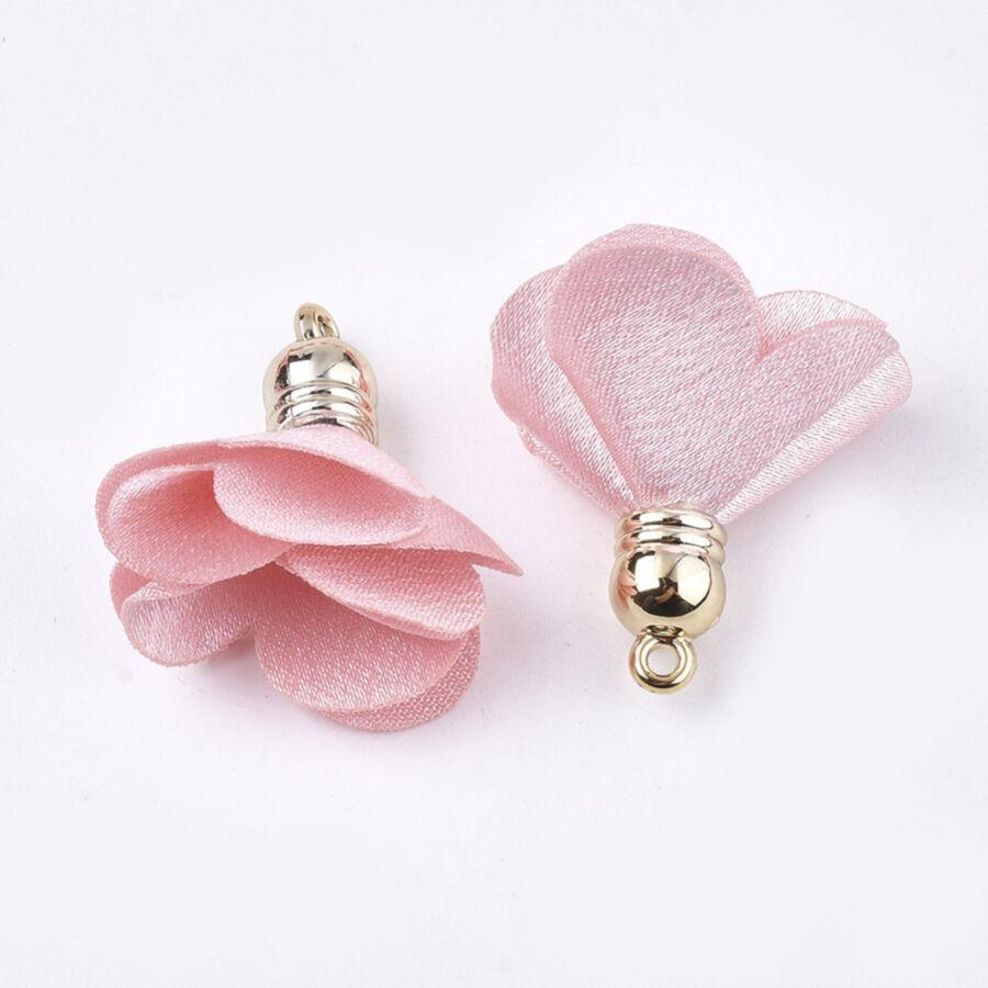 Rózsaszínű virág alakú bojt (30x30mm)