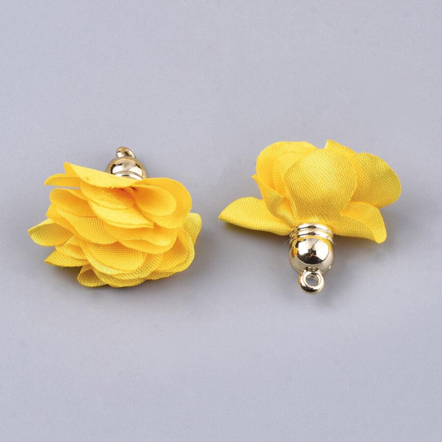 Sárga színű virág alakú bojt (25x27mm)