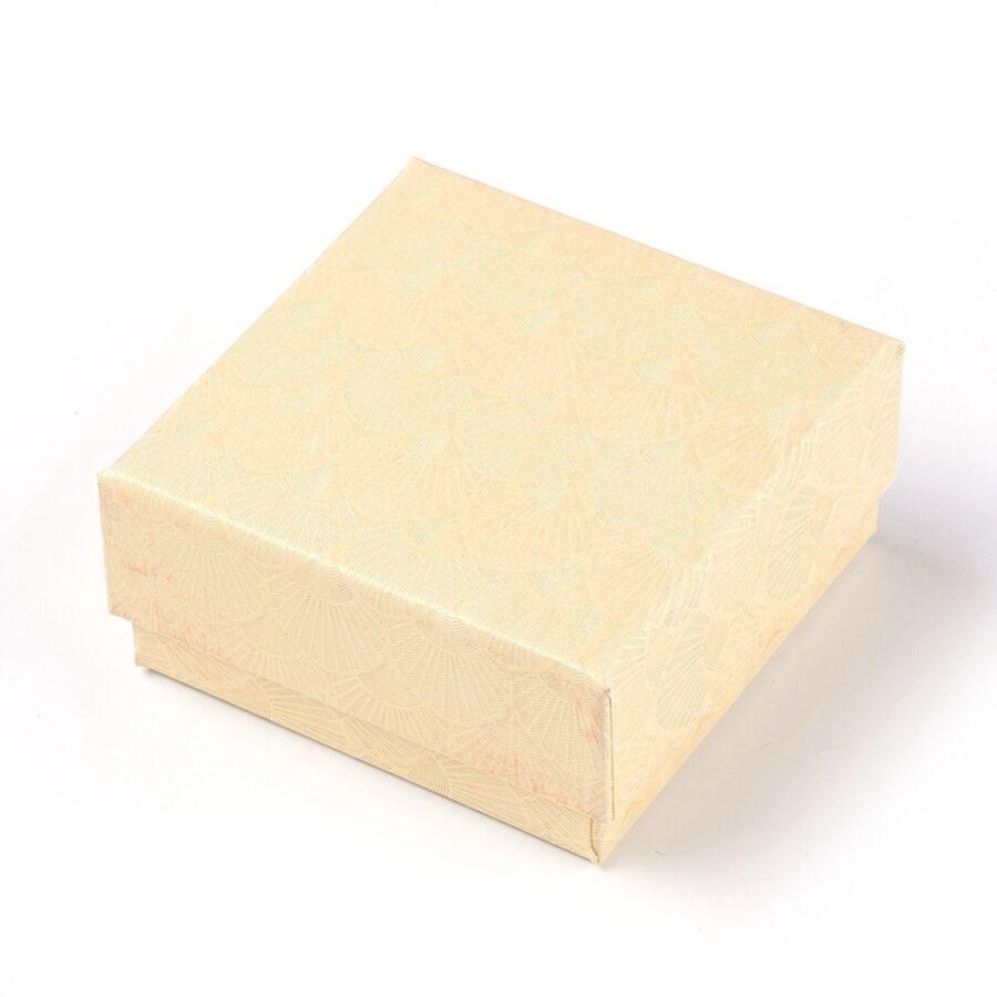 Arany színű papír díszdoboz (7,5x7,5cm)