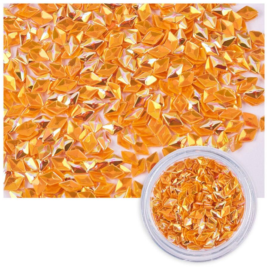 Narancssárga színű flitteres díszítő elem