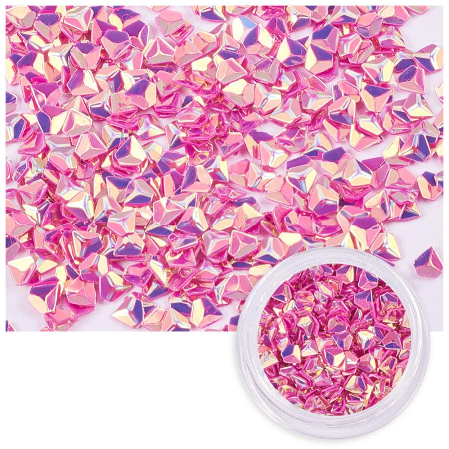 Pink színű flitteres díszítő elem