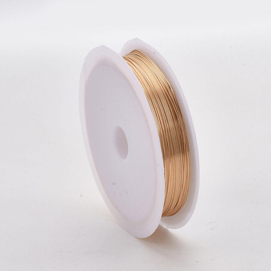 Világos arany színű ékszerdrót (0,6mm/5m)