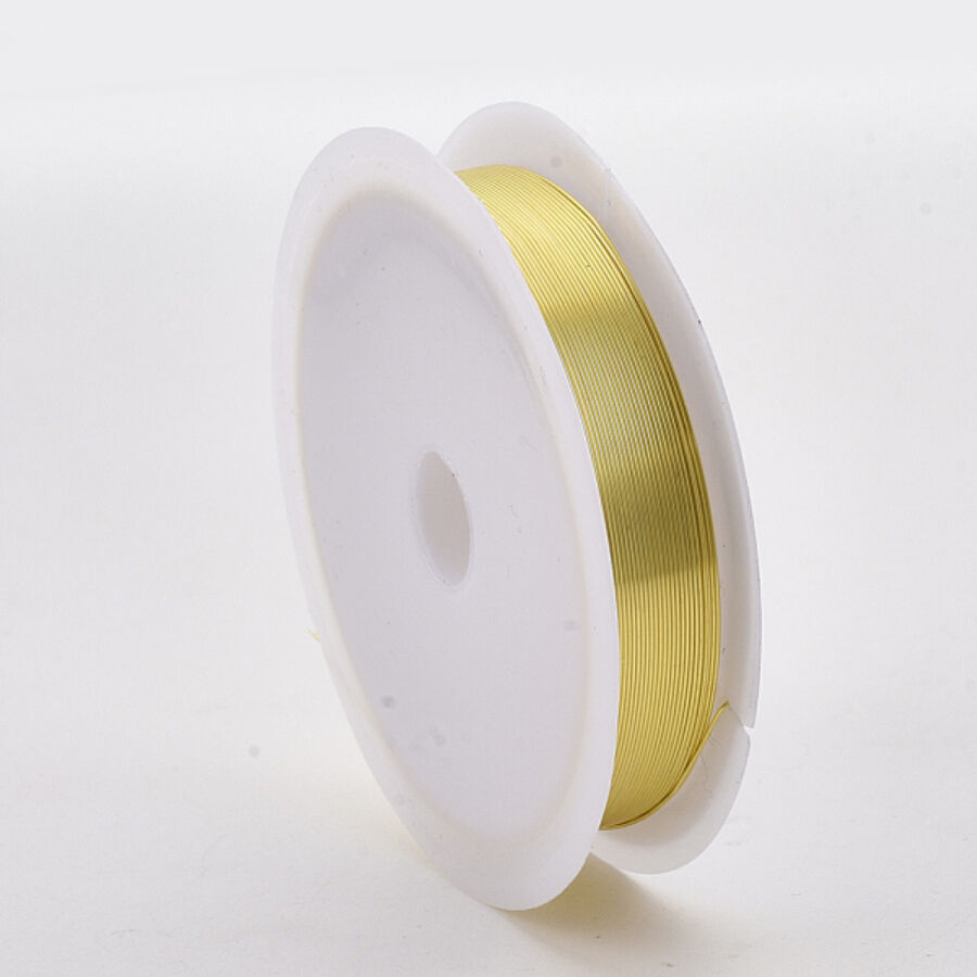 Világos arany színű ékszerdrót (0,4mm/10m)