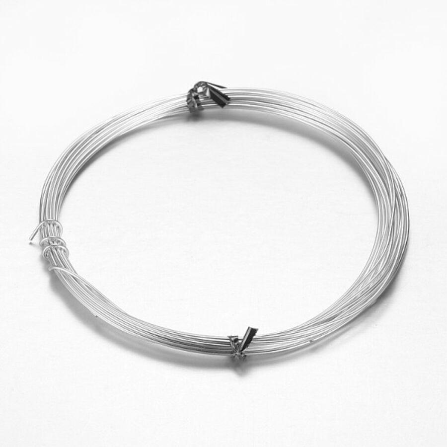 Ezüst aluminium ékszerdrót (2mm/5m)