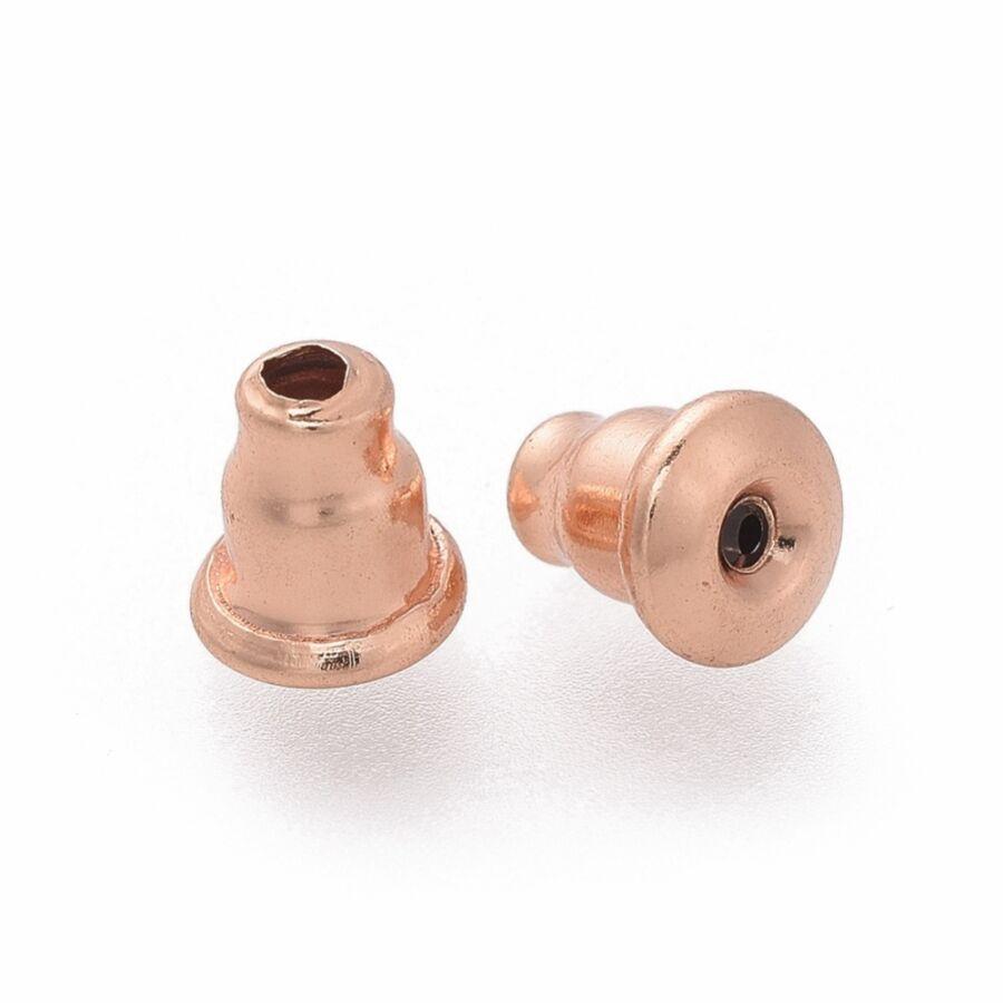10db nemesacél rozé arany színű fülbevalóvég