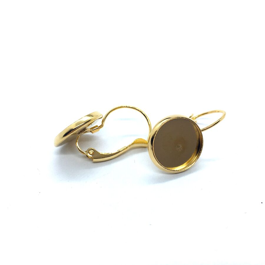 Arany színű nemesacél kapcsos fülbevalóalap (12mm)
