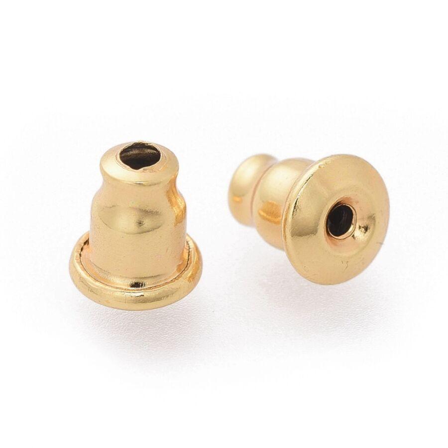 10db nemesacél arany színű fülbevalóvég