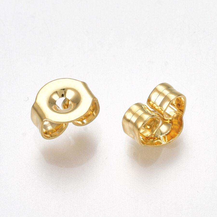 10db nemesacél arany fülbevalóvég