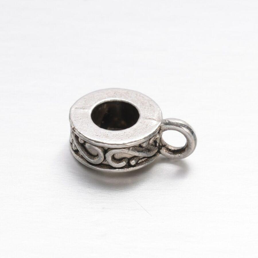 Antikolt ezüst színű díszített medáltartó (11x7mmm)