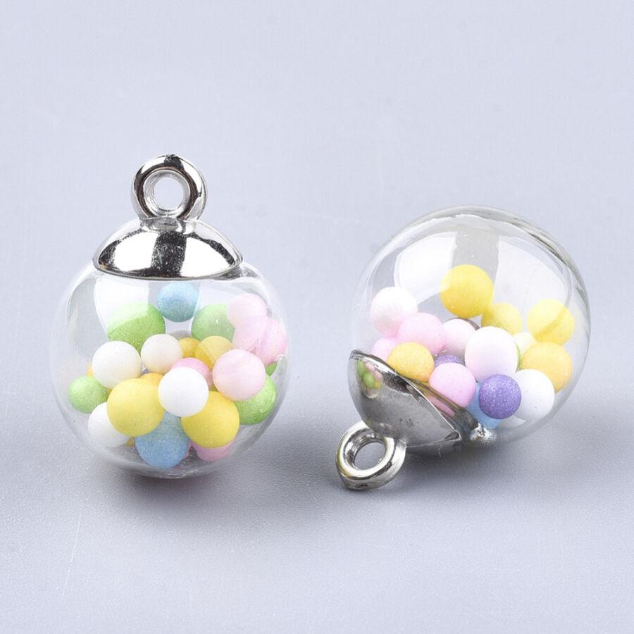 Díszítő üveggömb polifoam gömbökkel töltve