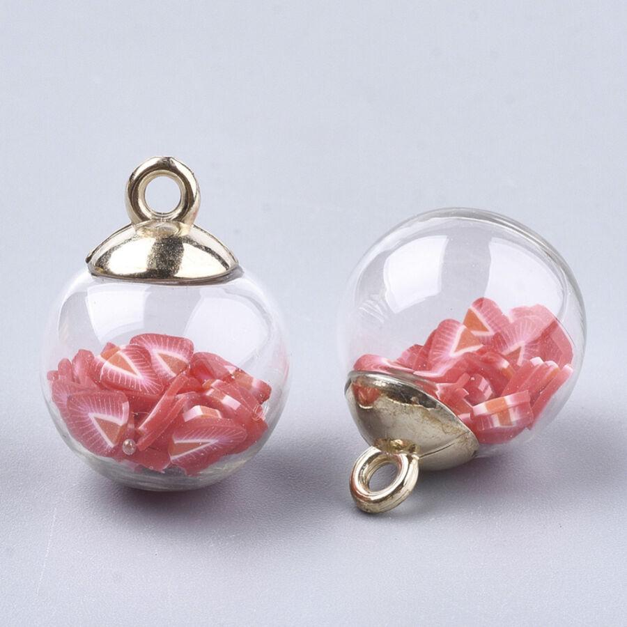 Díszítő üveggömb gyurma gyöngyökkel töltve