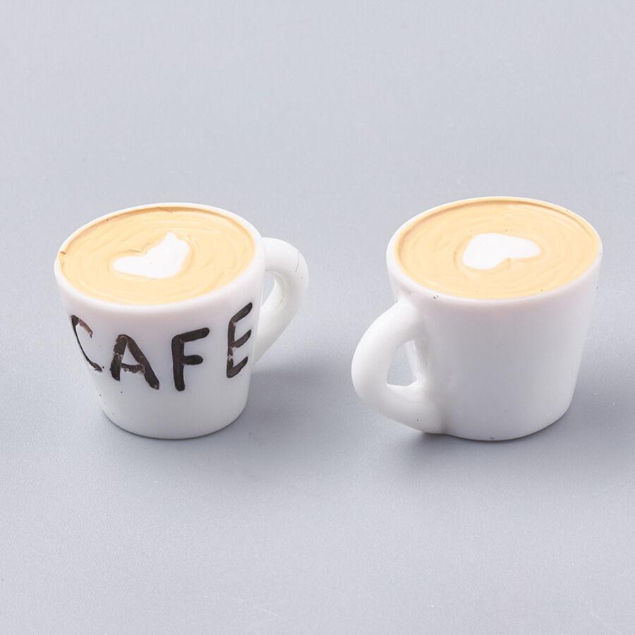 Kávés csésze fityegő (műanyag)