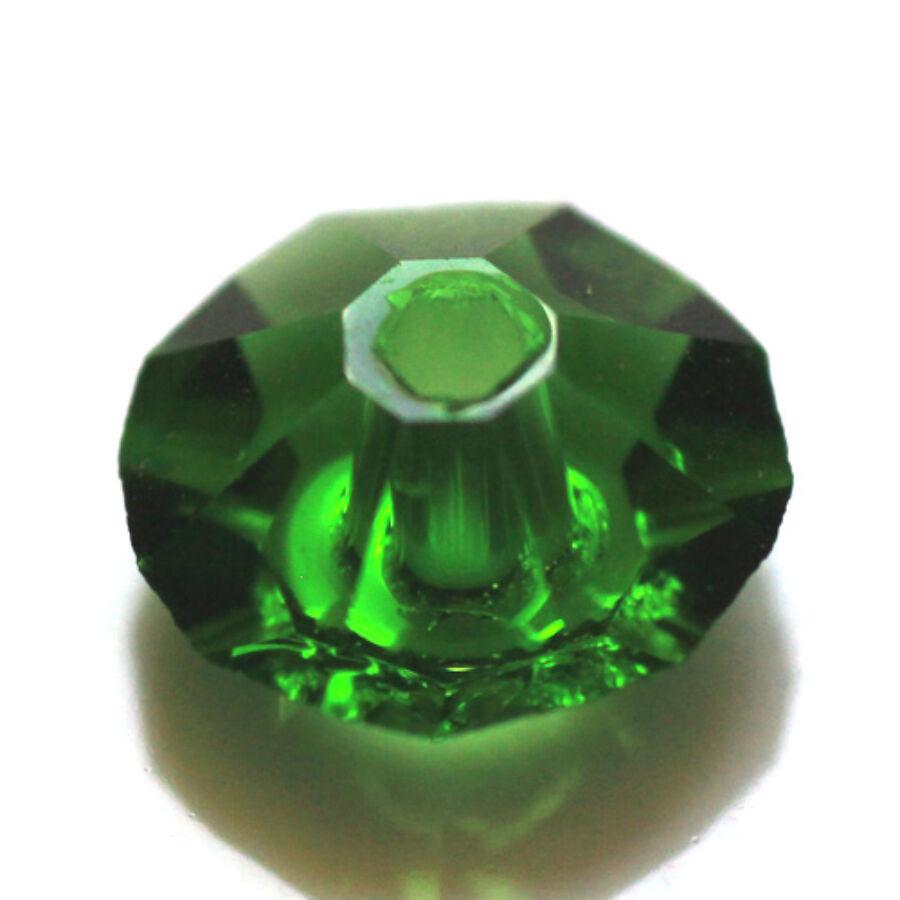 Sötét zöld első osztályú csiszolt üveggyöngy (3x6mm)